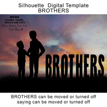 Load image into Gallery viewer, Silhouette Brothers and Boys Digital Template