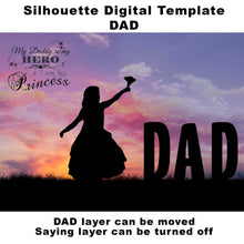 Load image into Gallery viewer, Silhouette DAD Digital Template