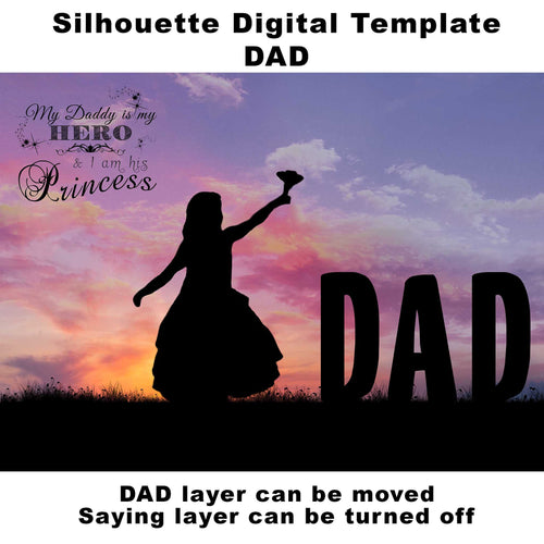 Silhouette DAD Digital Template