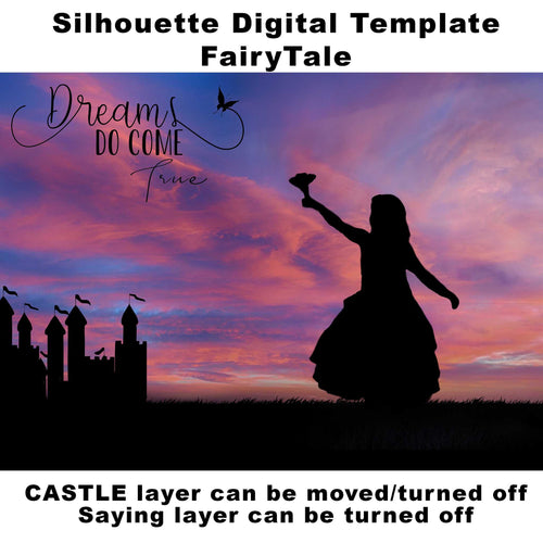 Silhouette Dreams Do Come True Digital Template