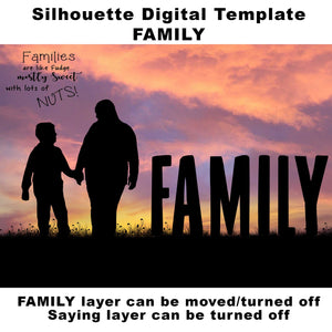 Silhouette Family Digital Template
