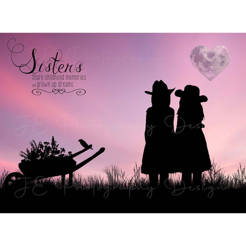 Silhouette Sisters Digital Template
