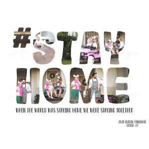 #stay home - quarantine 2020 word art template