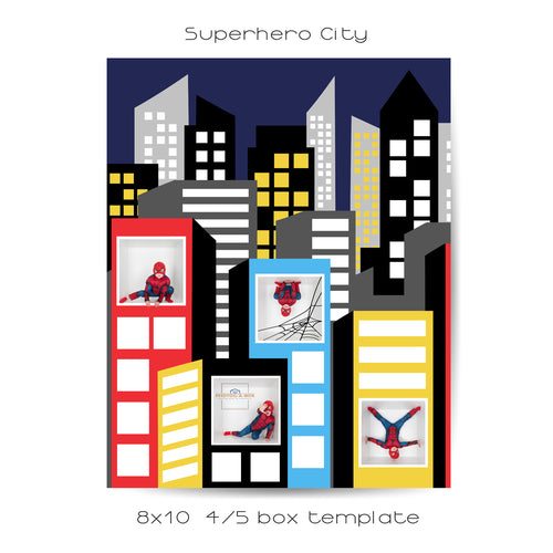 Superhero City | 4/5 box | 8x10