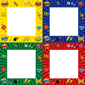 Elaine Rennie's 4 pack of Superhero Borders