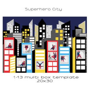 Superhero City | Multi box | 1-12 box | customisable