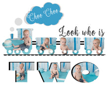 Load image into Gallery viewer, Train Template - Choo Choo look who's Two (and One)