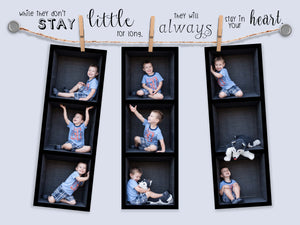 Clothesline Photo Strip In the Box Photography