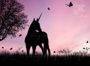 Silhouette Unicorn Dreams Digital Template