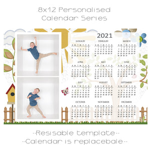 Summer Days Calendar Series Template 8x12