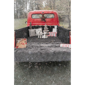 Vintage Red Truck -Back of International Harvester - Digital backdrop #1