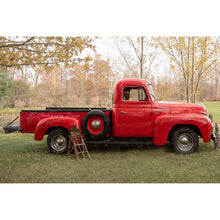 Load image into Gallery viewer, Vintage Red Truck -Side of International Harvester - Digital backdrop #2