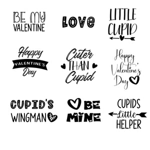 Valentine's Day Word Art Overlays