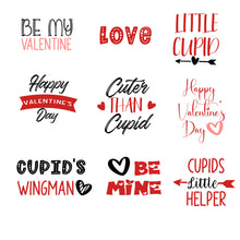 Load image into Gallery viewer, Valentine's Day Colour Word Art Overlays