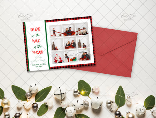 Christmas Card Flat Lay - White Bells