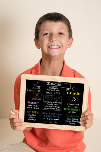 Back to School Chalkboard - Horizontal - Customize for your child/customer