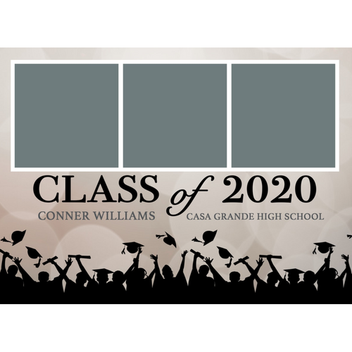 Beige Bokeh 2020 Graduations Announcements 5x7 Card Size