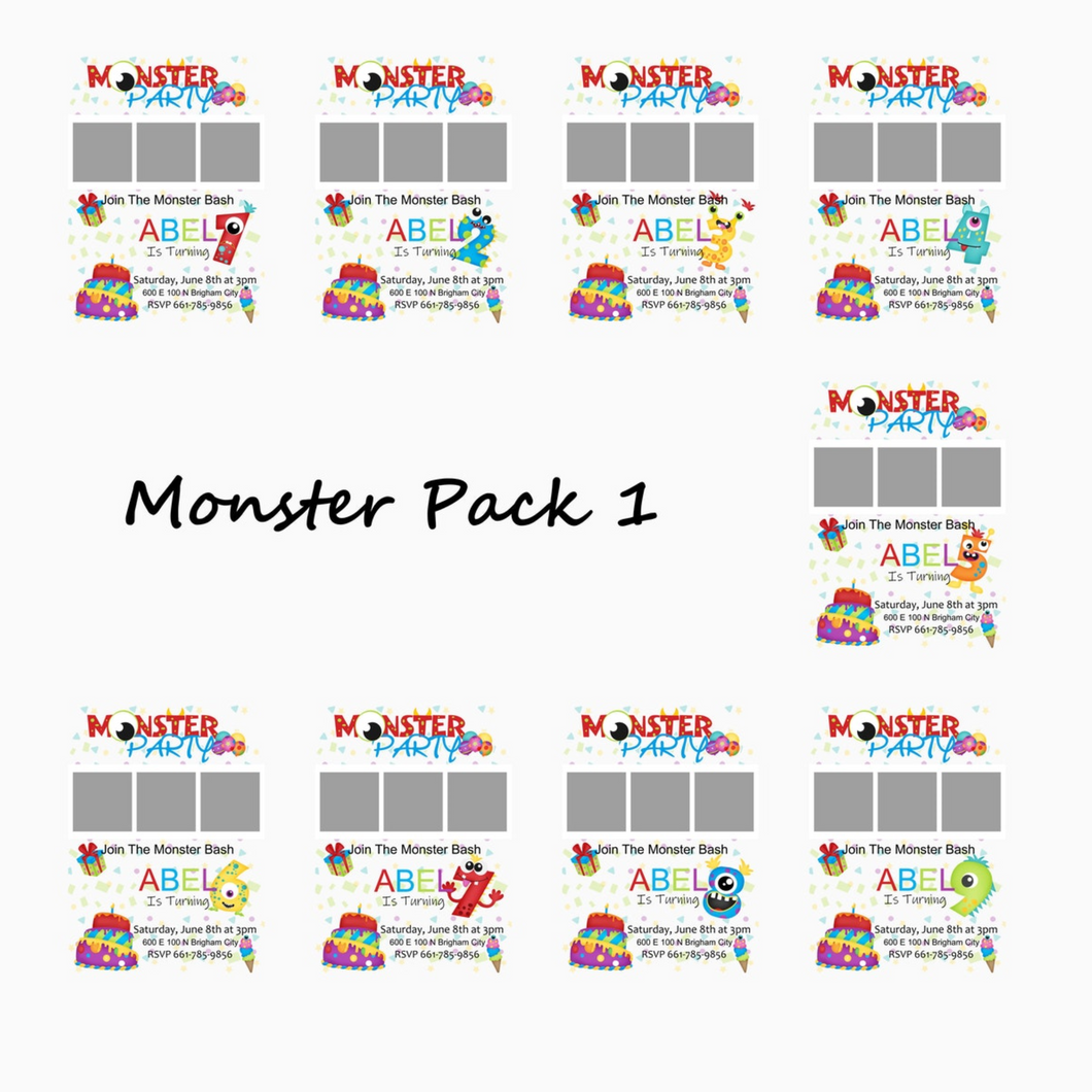 Monster Themed Birthday Bundle