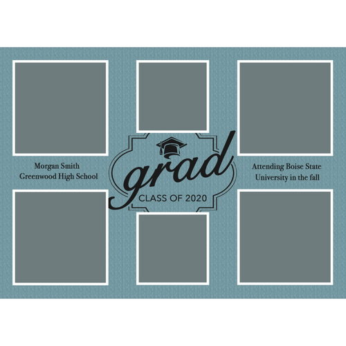 Blue 2020 Graduations Announcements 5x7 Card Size