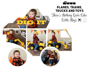 Litte Boys Dump Truck Cake Smash