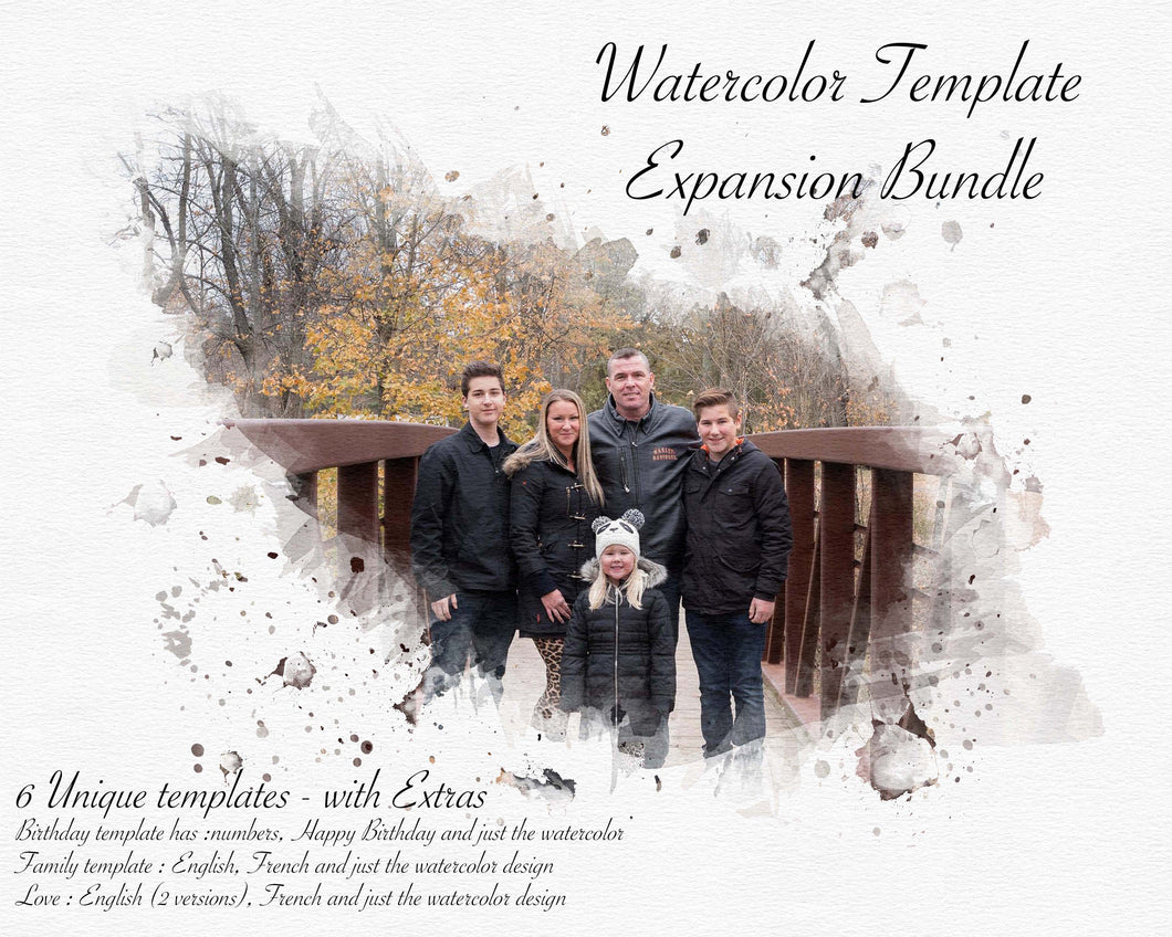 Watercolor Expansion Template Bundle - Simple and Elegant