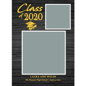Gold 2 Box 2020 Graduations Announcements 5x7 Card Size