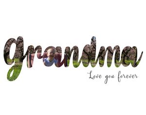 Grandma Mother's Day word art template