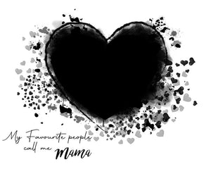 Mother's Day Heart - watercolor template