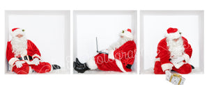 "SANTA ""in the Box"" Bundle #1  - includes 3 Santa images JPEG"