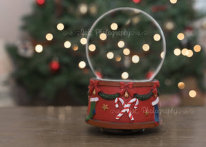 Christmas Snowglobe Digital Backdrop - Landscape and Portrait