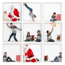 "Load image into Gallery viewer, SANTA ""in the Box"" Bundle #6 - includes 3 Santa images JPEG"