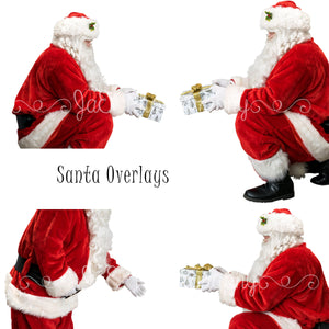 Santa Overlay .png files (4 included)