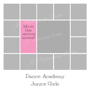 1 large and 14 small boxes White Grid template