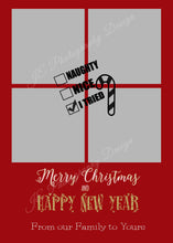 Load image into Gallery viewer, Naughty or Nice Christmas Card - Customizable Template for your photos