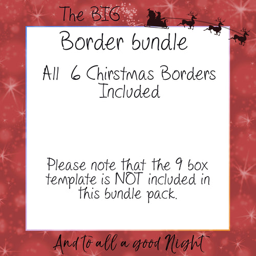 Christmas Border Bundle for your Box templates