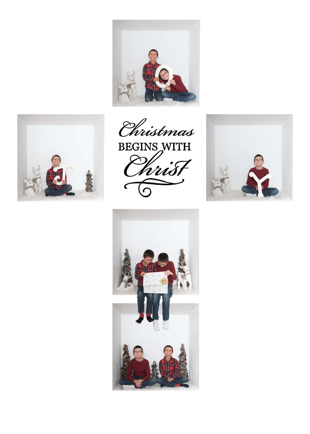 Cross White Grid Template - 5 or 6 Box template with 2 canvas sizes