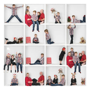 "16 Box White Grid Template - canvas size 24""x24"""