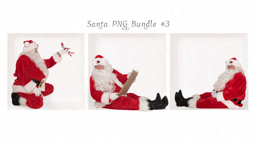 Santa PNG Bundle #3 (3 included)