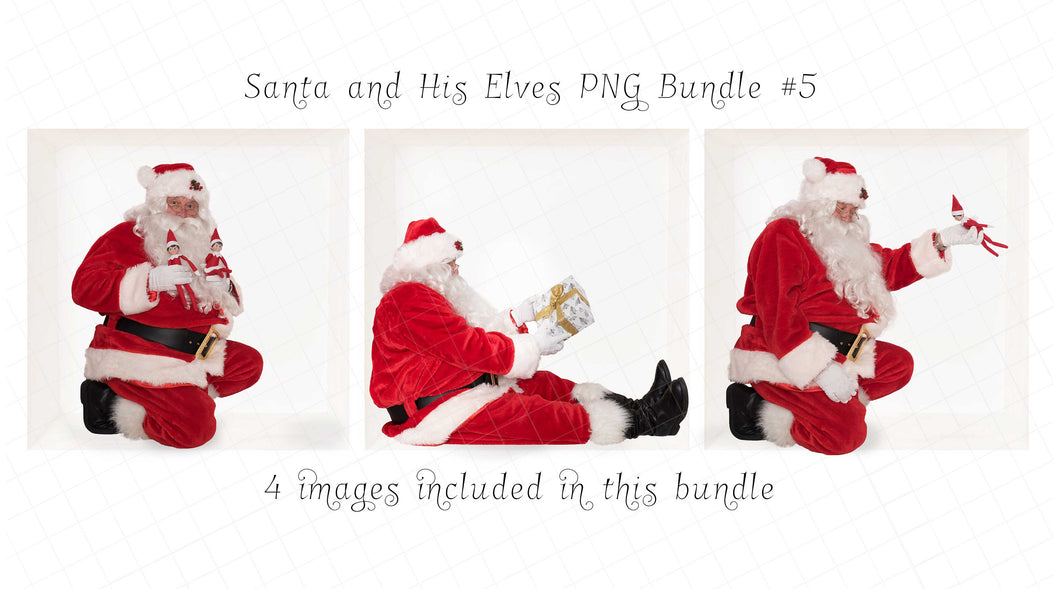 Santa PNG Bundle #5