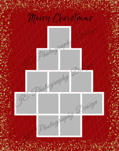 Christmas Tree Grid template - 3 sizes
