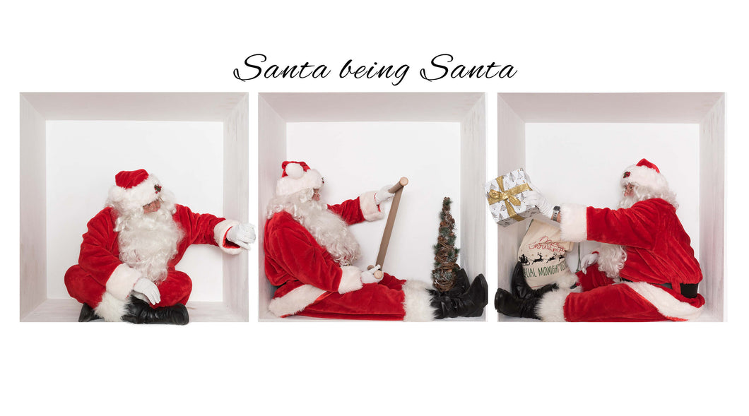 Santa in the box Bundle 4 With Gift, peeking and a scroll (Bundle of 3)