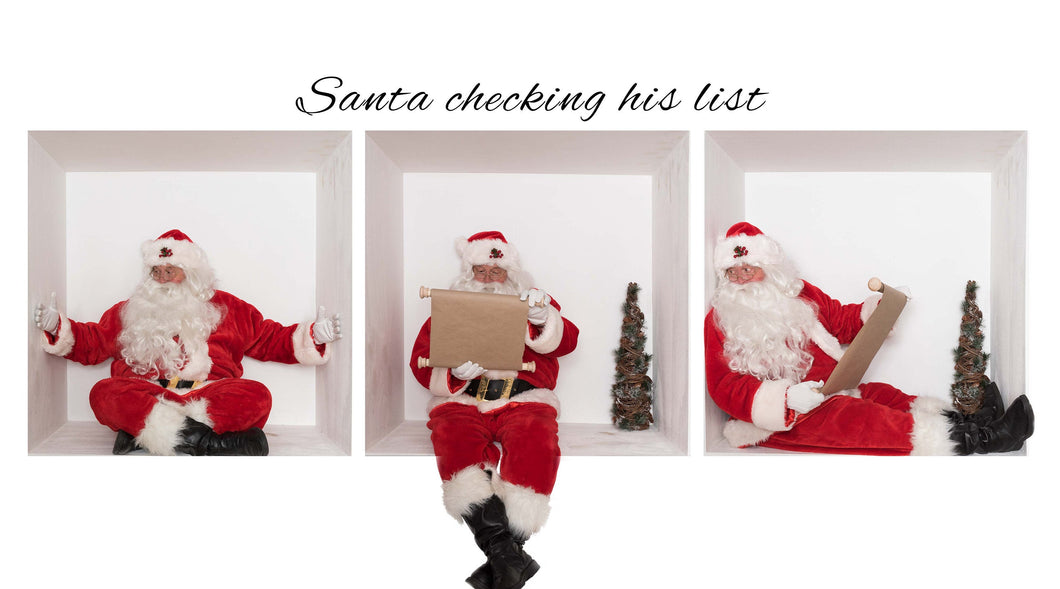 SANTA In The box Bundle 3 Checking His list ( Bundle of 3)