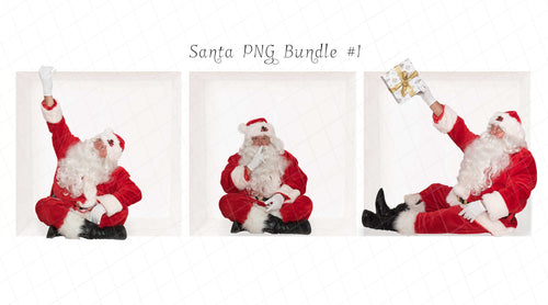 Santa PNG Bundle #1  (3 included)