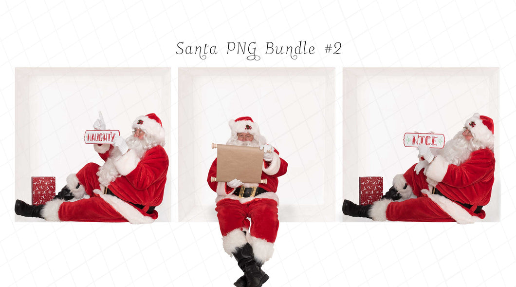 Santa PNG Bundle #2 (3 included)