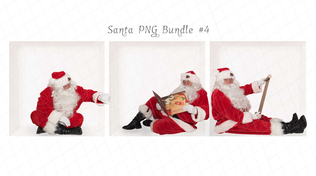 Santa PNG Bundle #4 (3 included)
