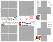 Load image into Gallery viewer, Valentines Cards - 6 cute cards to print and cut out