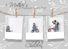Load image into Gallery viewer, Mother's Day card Clothespin templates - 2 sizes
