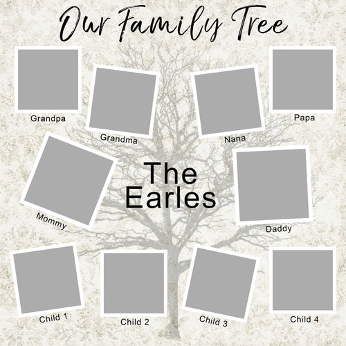 Family Tree Photo Grid Template