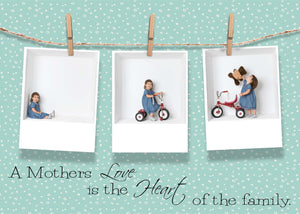 Mother's Day card Clothespin templates - 2 sizes