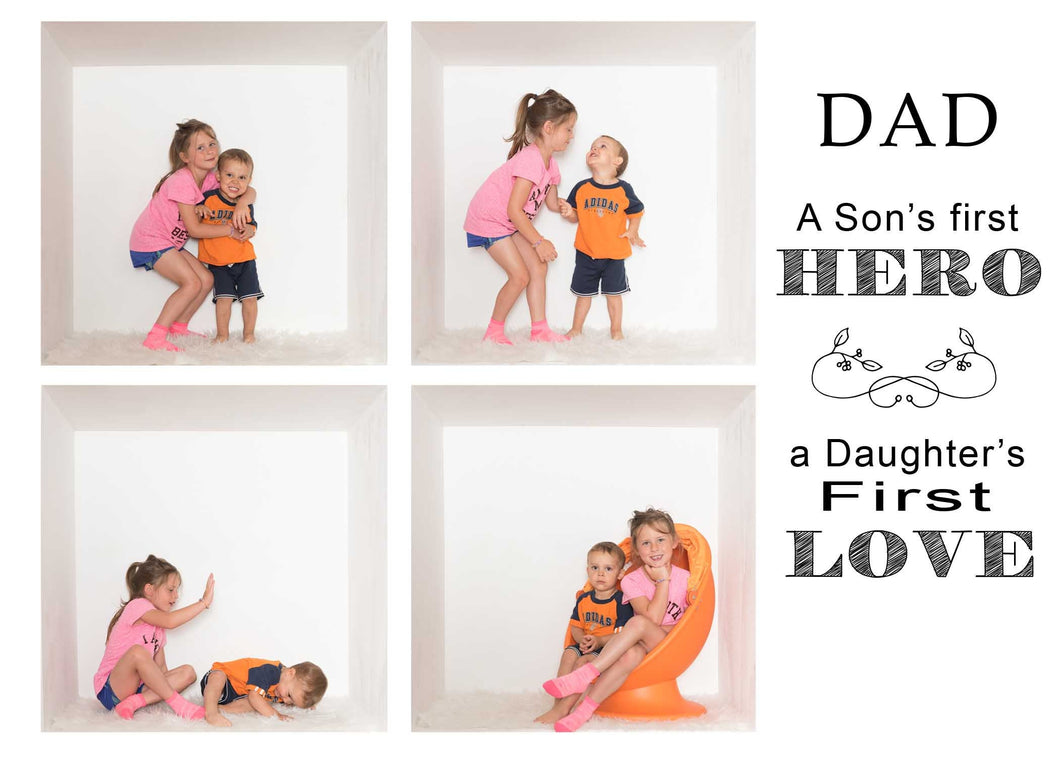 Father's Day card template - 4 designs and various sizes